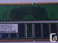 Numerous RAM modules from old desktop computers. Price