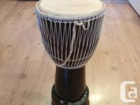 large djembe I brought back from Uganda this summer.