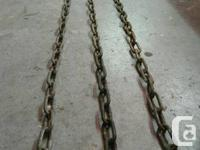 I have 3 10 foot lengths of heavy duty galvanized chain