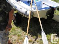 Comes complete with pump, spruce oars with spoon