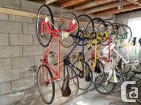 I have a bunch of road bikes, that are ready to go. And