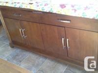 Solid wood,high quality,brownish big dining room.