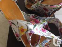 Beautiful pair of Flora Satin Wedge Heels, size euro