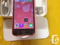 BRANDNEW 100%100 1:- running iOS 8.1.1 pink iPhone 5c