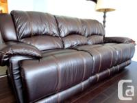 Moving sale!! Less than a year old. Espresso leather
