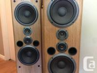 Cost for a set. TWIN WOOFER SYSTEM. OAK COLOUR VINYL
