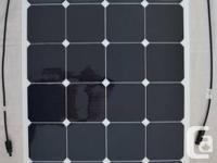 Flexible solar panels available at MakeASolarBoat.com