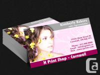 Expert dual sided complete colour calling card at
