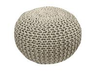 Handmade Knitted Pouf Color: Glacier Gray (Pantone