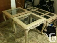 THREE PICE SET OF COFFEE AND END TABLES.GORGEOUS *HIGH