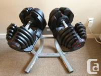 Good as new 1090 Bowflex Dumbells (2 Dumbells) with