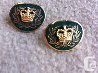 Canadian Army Master Warrant Officer Collar Pins In
