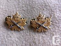 Canadian Cadet Instructor's Cadre Collar Pins (Army) In