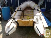 10ft mercury inflatable boat comes with seat ,footpump