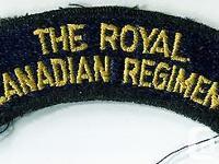 TheRoyal Canadian Regiment Shoulder Flash (One) The