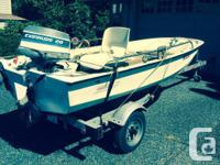 'as is' older model boston whaler and motor. modified