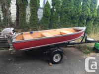 Great little Aluminum boat on trailer, no leaks trailer