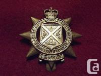 Canadian Queens Crown Cap Badge To The West Nova Scotia