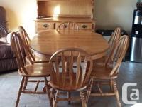 11 piece Canadian hardwood (Birch) dining room/kitchen