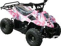 PINK CAMOUFLAGE 110 CC QUADS FOR THE CHILDREN! CONSISTS