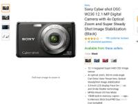 Sony CyberShot 12.1mp Digital Camera Model: DSC-W230
