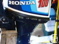 12' Aluminum boat, comes with 10 hp Honda, 4 stroke,