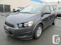 Less than 18,000kms on this 2013 Chevrolet Sonic LT.