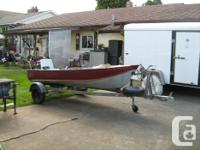 12' Aluminum Boat and Galvanized Trailer. Comes with 4