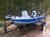 Harbercraft 12' aluminum, trailer and outboard. This
