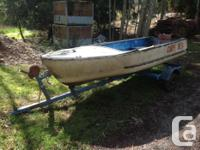 $125 OBO 12 foot glasscraft boat and trailer No plates