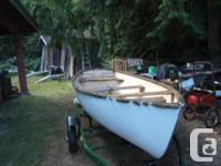 12 foot Fiberglass Sailboat and trailer, Aluminium