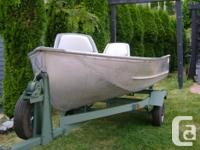 I have a 12 foot aluminum boat and trailer available