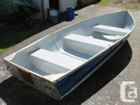 12 ft aluminum boat. Not sure what make it is. Very