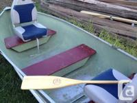 beautiful 12 alum boat c/w 2 hp evinrude very comfy