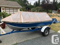 12' Aluminum Fishing Skiff, good condition. Solid