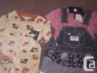 Osh Kosh denim jumper and blouse.....also sleeper.