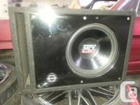 "MTX 12"" SUBWOOFER SONY 800 WATT MONO AMP BASSWORKS"