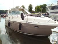 The Rinker 410 Fiesta Vee is a full-featured express