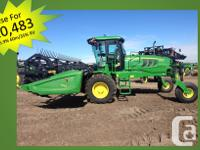 W150 2013 John Deere W150, Windrowers, With 25â� Double