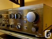 Excellent 125 WPC Sony Integrated Amp, this is a well