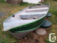 no trailer, 9.5 evinrude. Harbour craft boat, oars,gas