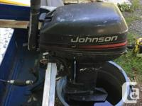 12ft Smoker Craft aluminum boat with 15 horse Johnson 2