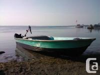 CUSTOMER CONSISTS OF:.  -12 FT FIBER GLASS BOAT WITH