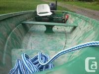 12 ft. Sportsperson fiberglass watercraft, secure and