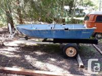 12ft smoker craft aluminum boat, riveted. Used to