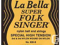 The 830 Folksinger® set has ball-end black nylon