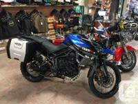 Awesome bike, brand new bark busters, large luggage