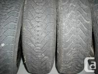 $75.00 OBO for all 4 tires as well as rims 155 80R 13s