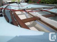 Enterprise sailing dinghy, ready to take on fresh or