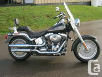 Very clean low mileage Fatboy! Windshield & Michelin